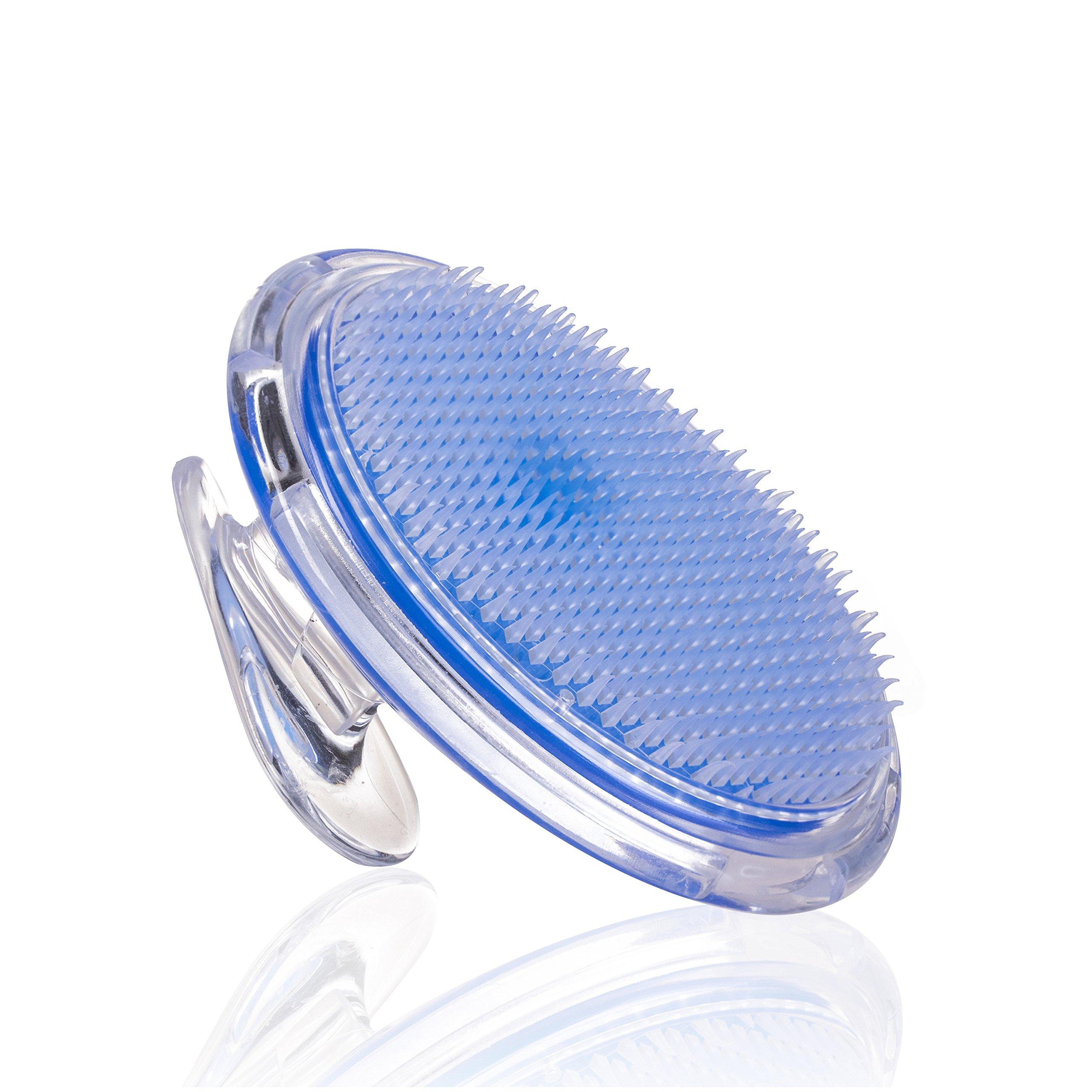Exfoliating Brush - Ingrown Hair Treatment - Ingrown Hair Exfoliator for Men and Women - Bikini Line Exfoliator - Eliminate Razor Bumps and Shaving Irritation - Body Brush for Legs Armpit by SanDine