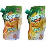 Rasna FruitPlus 750g Spout Pack Combo (Orange & Mango)