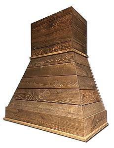 "30"" Castlewood Rustic Shiplap Chimney Range Hood - Brown (42-1/2"" H   31"" W   20-3/8"" D) (No Ventilator/Liner)"