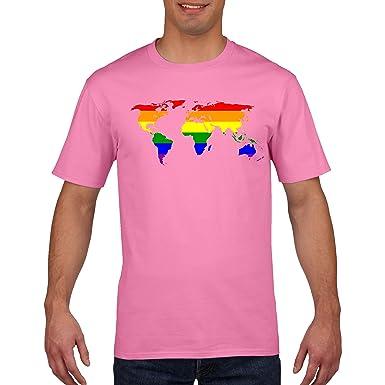 Funkyshirt world map lgbt gay pride t shirt amazon clothing gumiabroncs Gallery