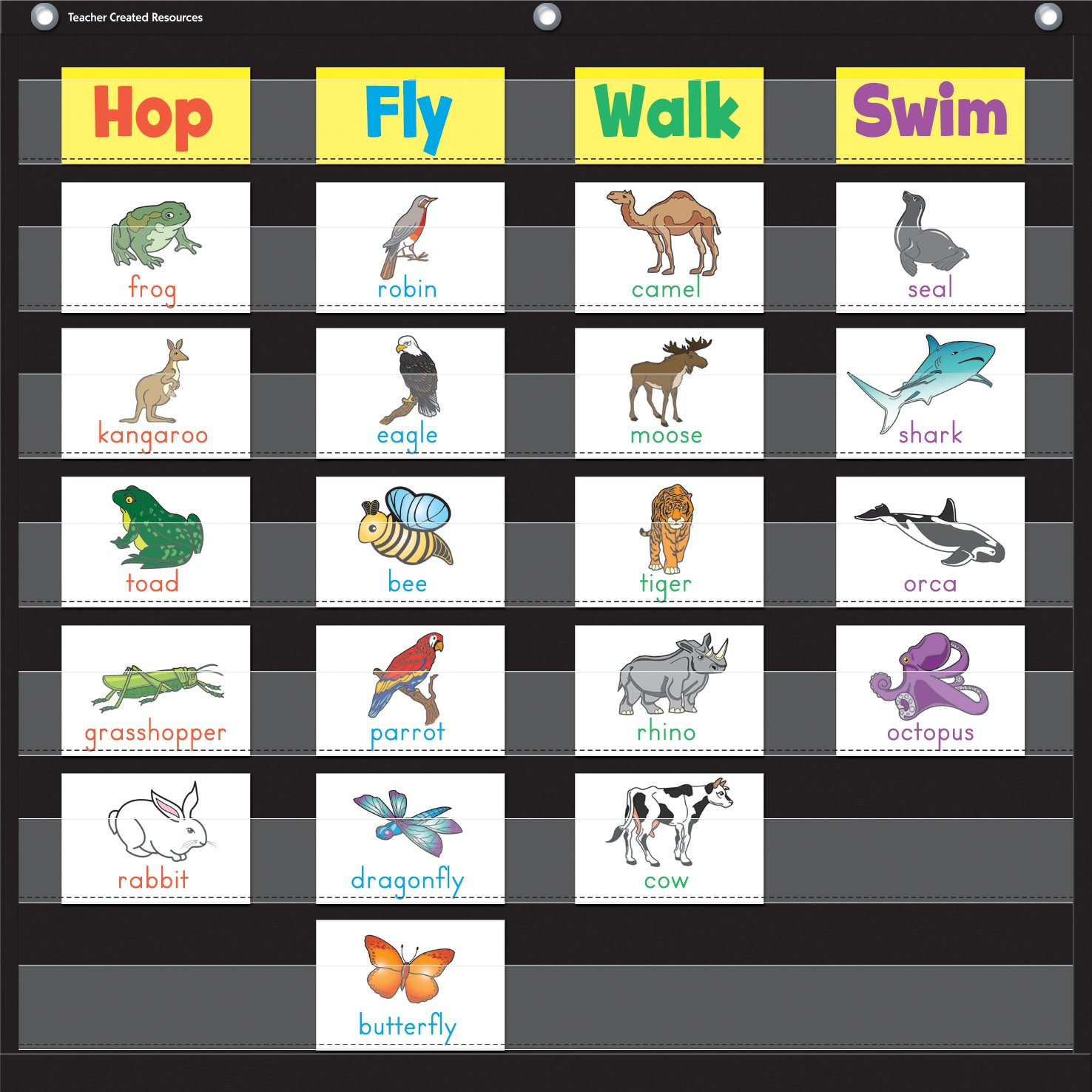 Teacher Created Resources Black 7 Pocket Chart (20740)