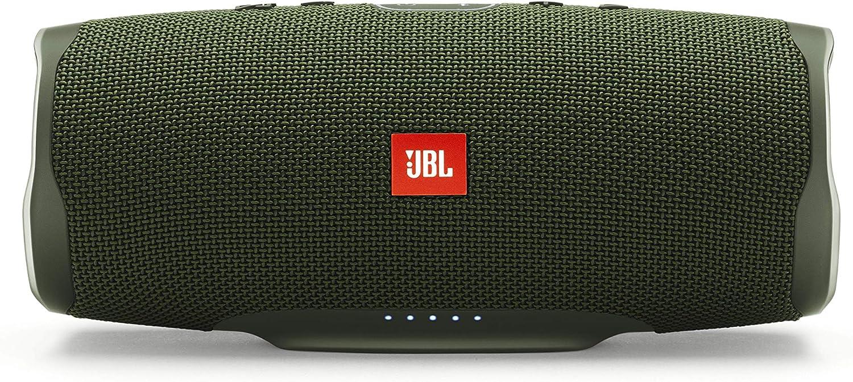 JBL Charge 4 – Altavoz inalámbrico portátil con Bluetooth, resistente al agua (IPX7), JBL Connect+, hasta 20 h de reproducción con sonido de alta fidelidad, color verde