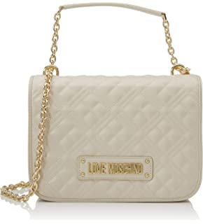 Love Moschino Jc4022pp1a, Borsa a Tracolla Donna, Bianco