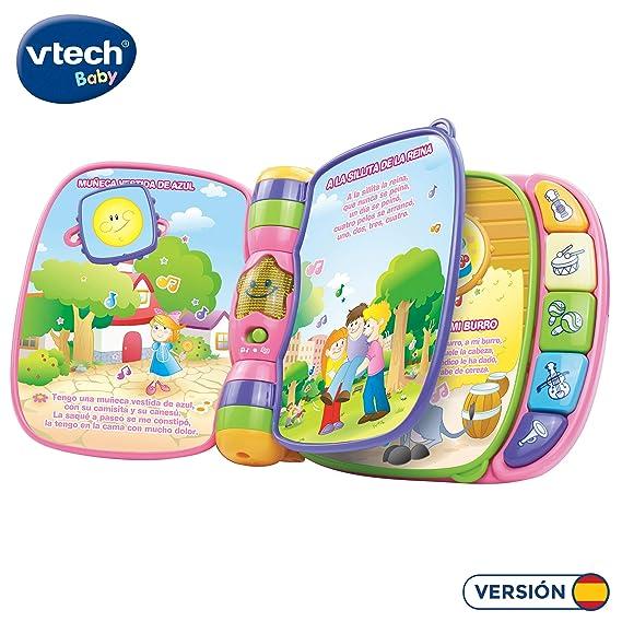 VTech Baby - Primeras canciones, Libro musical infantil con canciones populares para niños, botones para aprender instrumentos y sus sonidos ...