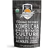 Fermentaholics Organic Kombucha SCOBY with Twelve Ounces of Starter Tea - Live Starter Culture - Makes A One Gallon…