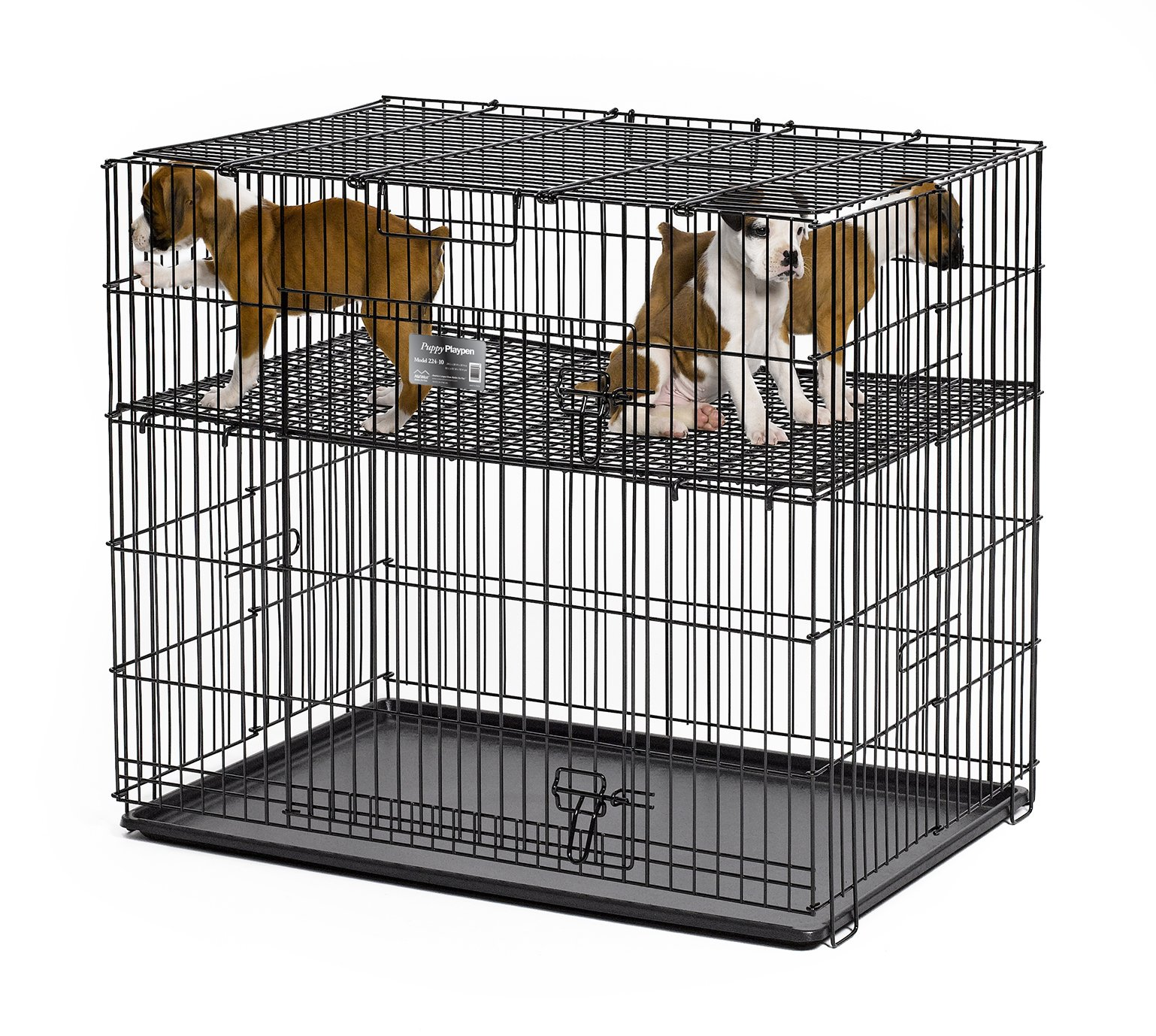 Midwest Homes Puppy Playpen Crate - 224-05 Grid & Pan Included