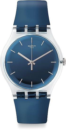 Swatch Reloj Digital de Cuarzo para Hombre con Correa de Silicona - SUOK126: Amazon.es: Relojes