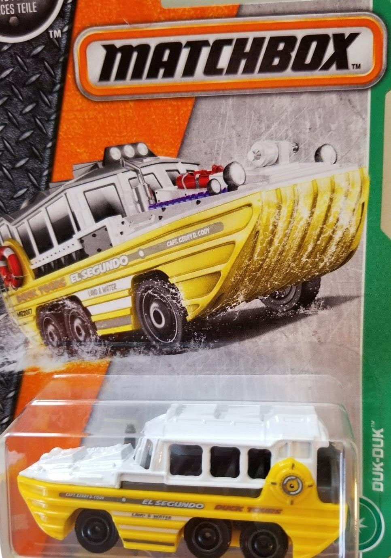 Matchbox 2017 MBX Explorers Duk-Duk (Boat Car) 89/125, White and Yellow