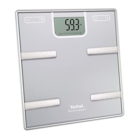 Tefal Bodymaster BM6010 Rectángulo Plata Báscula personal electrónica - Báscula de baño (Báscula personal electrónica, 160 kg, 100 g, kg, Rectángulo, ...