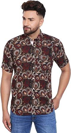 WINTAGE Bagru algodón Jaipur Hombres de Hawaiano Tropical del ...