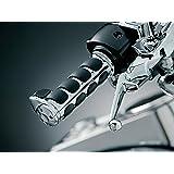 Kuryakyn 6212 Premium ISO Handlebar Grips with Standard Throttle Boss for Dual Cable Throttle Control: 1982-2019 Harley-David