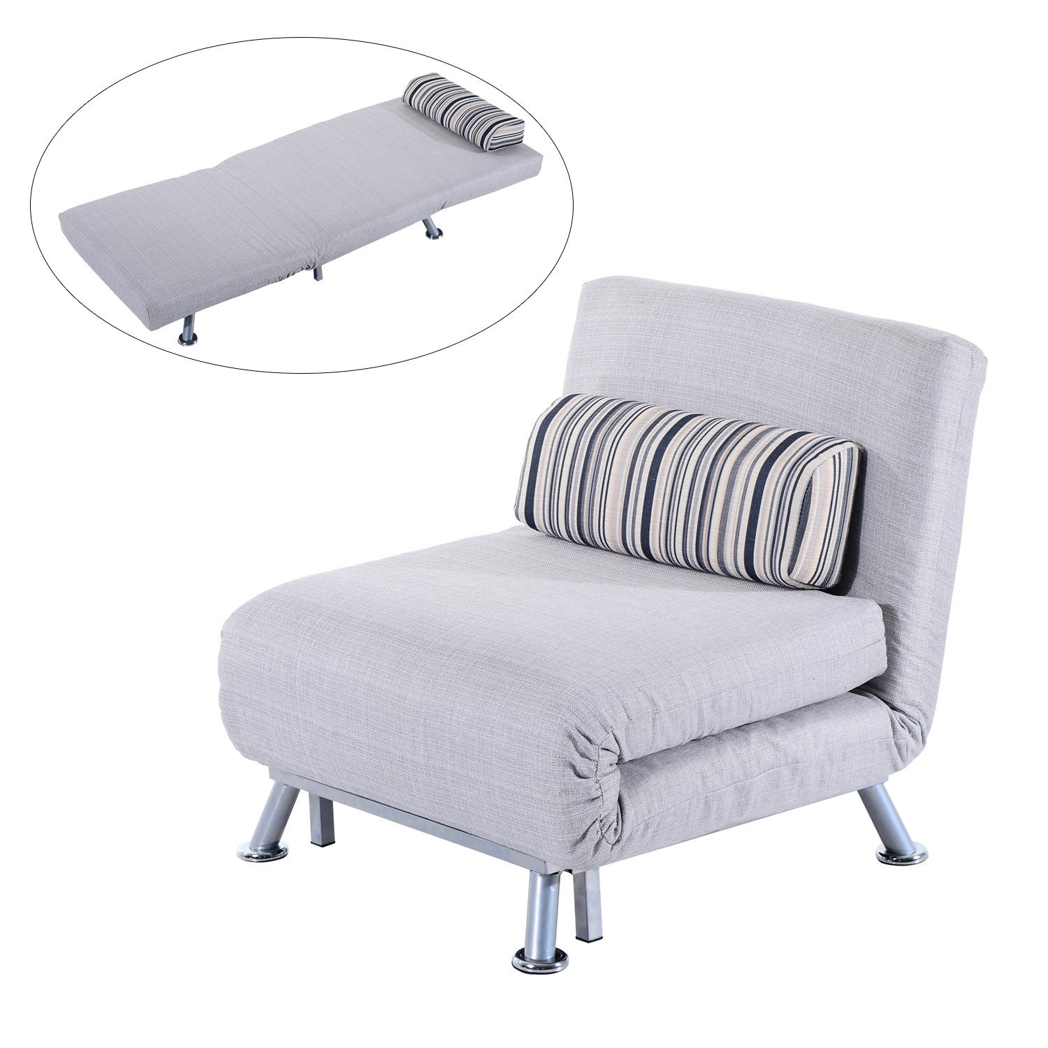 Homcom Fold Out Futon Single Sofa Bed