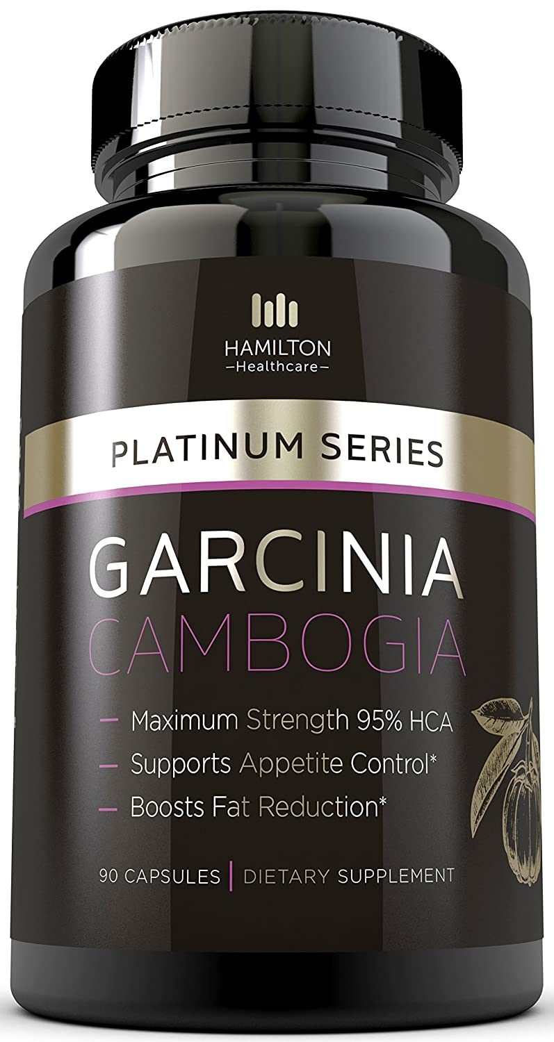 Hamilton Healthcare Platinum Series Garcinia Cambogia Extract Weight Loss Supplement with HCA (90 Pills) by Hamilton Healthcare B00ZH02JRA