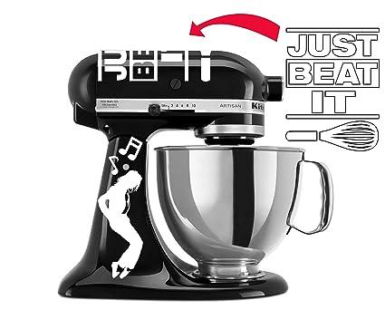 Amazon Com Beat It Black Mixer Decal Set For Kitchenaid