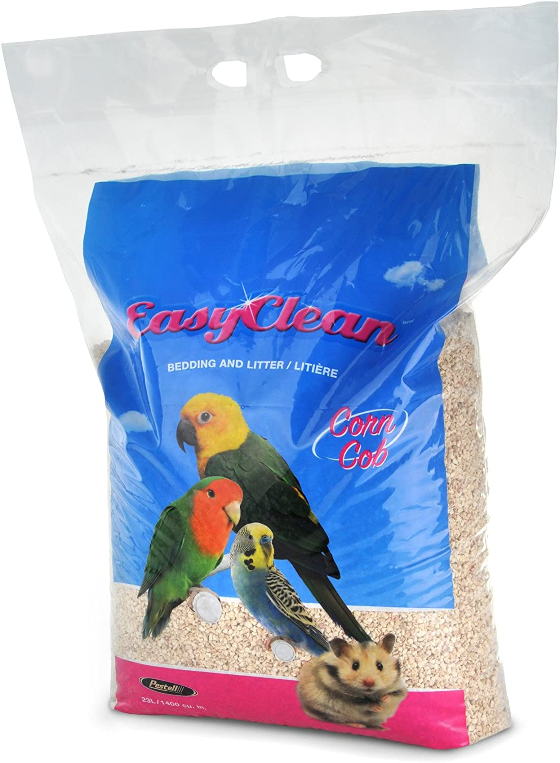 Pestell Pet Products Easy Clean Corn Cob Bedding, 46 Liters