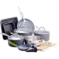 GreenPan CC002160-001 Lima cookware-Set, 18pc, Gray
