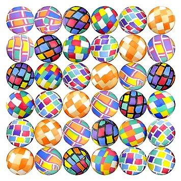 Hi Bouncing Balls 45 mm Mega Assorted Mixed Superball Balls in Bulk for Vending Machines Great for Kids Novelty Prizes Gifts in Bulk 50 pcs Rubber Large Bulk Bouncy Balls