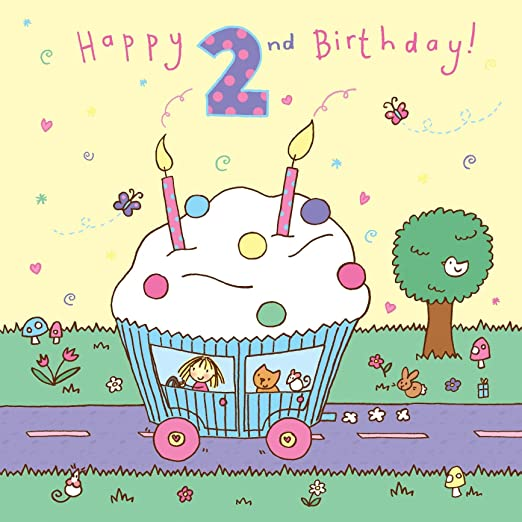 Twizler 2 nd Tarjeta de cumpleaños para niña, diseño de ...