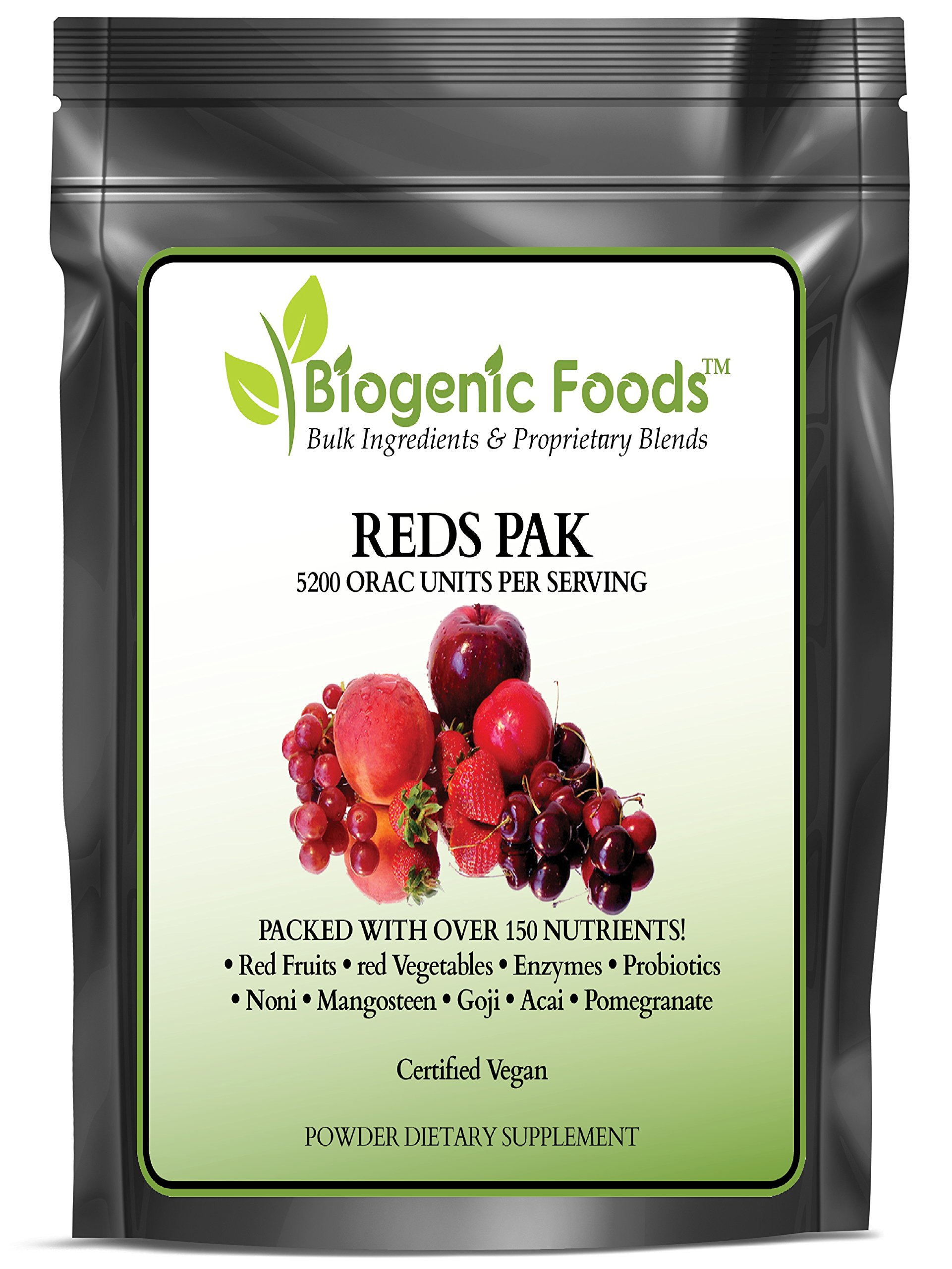 Reds Pak - Natural Super Fruit & Vegetable Blend w/Antioxidants & Phytonutrients ING: Organic Powder, 1 kg