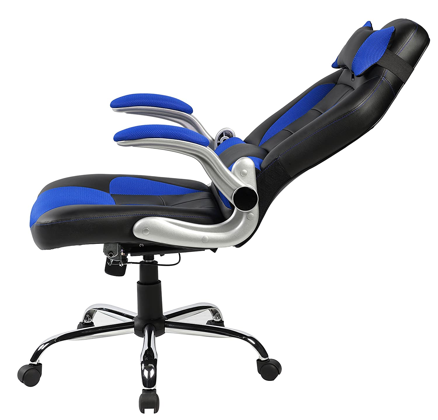 amazon com merax high back ergonomic pu swivel chair computer desk