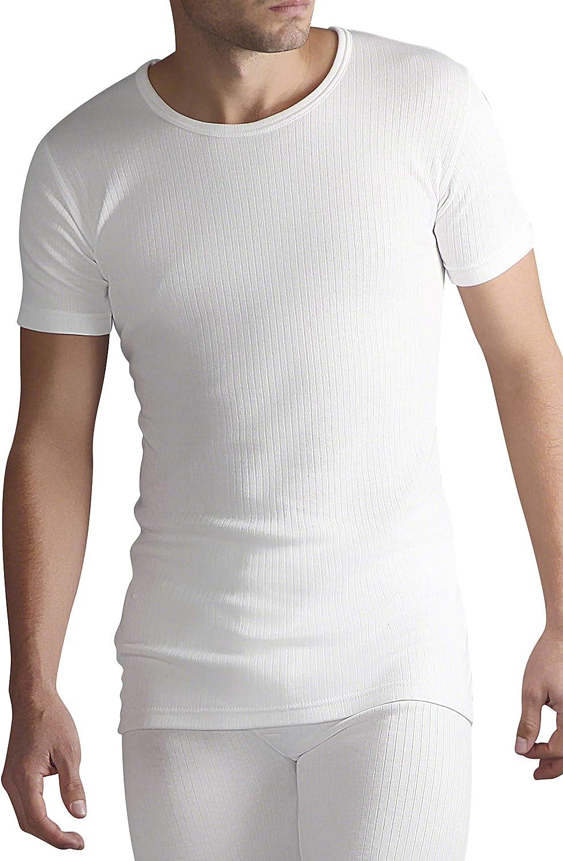 Herren 0.45 tog Winter warm Baumwolle Thermo unterw/äsche Kurzarm unterhemd HEAT HOLDERS
