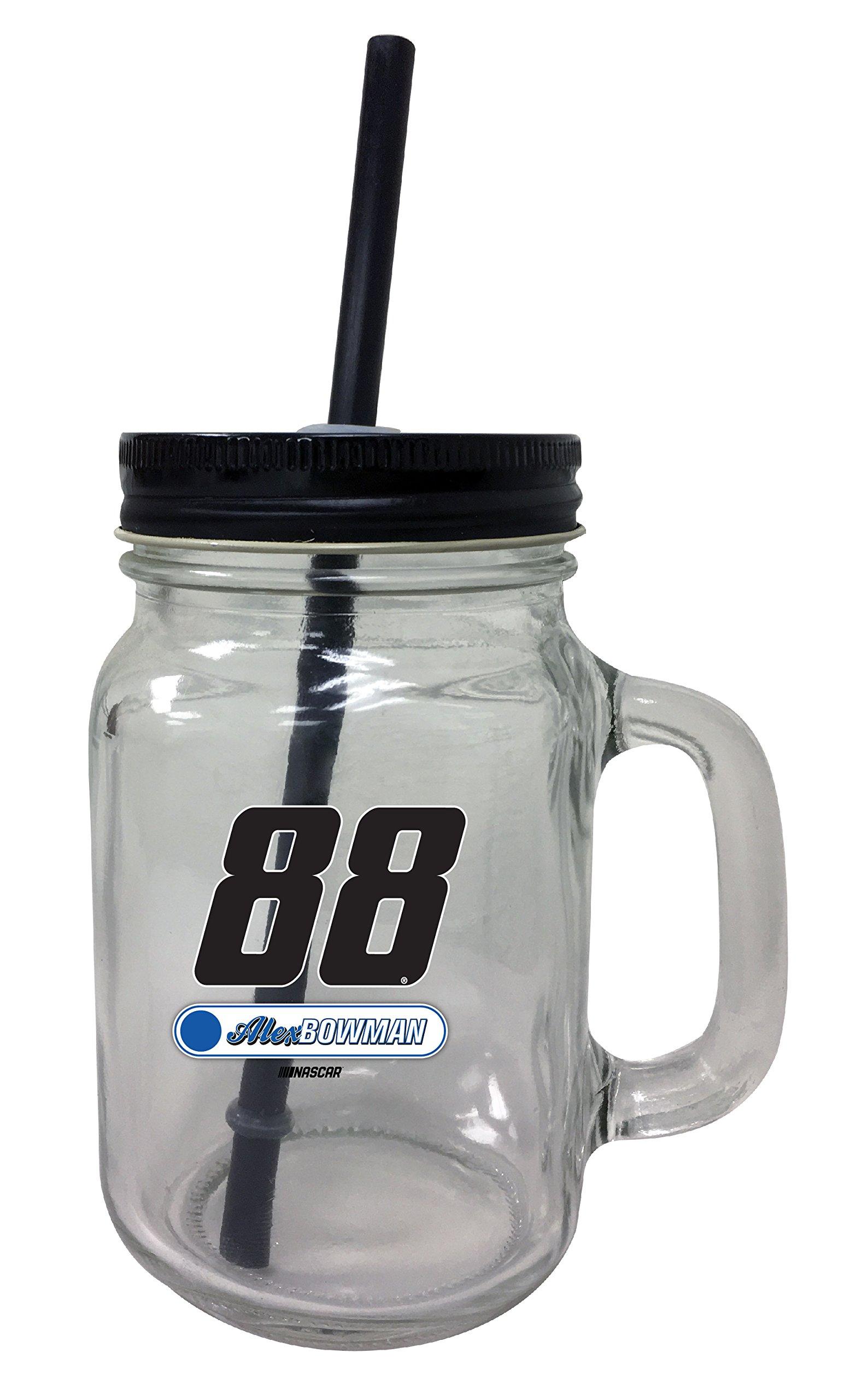 Alex Bowman #88 Mason Jar Glass Tumbler