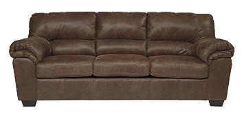 Ashley Furniture Signature Design - Bladen Contemporary Plush Upholstered Sofa - Coffee Brown