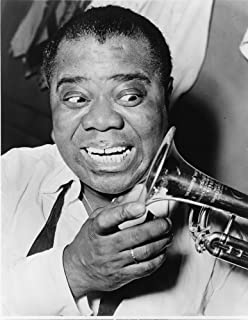 MUSIC LEGEND LOUIS ARMSTRONG TRUMPET JAZZ PORTRAIT POSTER ART PRINT LV10375