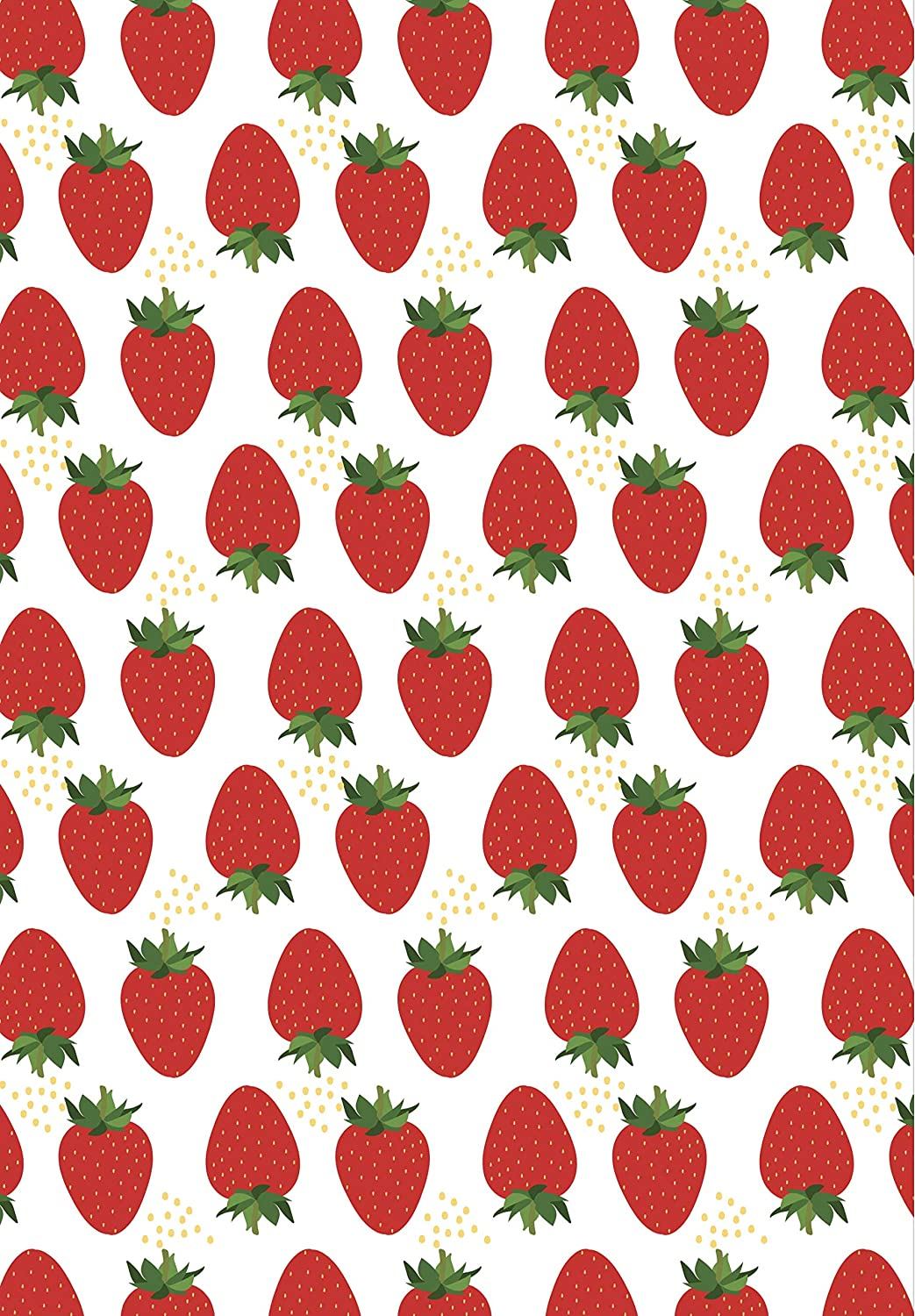Anniversary Birthday Strawberry Gift Wrapping Paper Roll Wedding Christmas