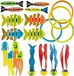 Prextex 24 Piece Diving Toy Set Summer Fun Underwater Sinking Swimming