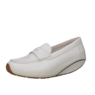 MBT Moccasins / Loafer Women 6/6.5 US - 37 EU White Leather