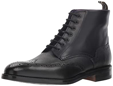 9f29334c0ea63 Ted Baker Men s TWRENS Oxford Boot Black Leather 7 M US