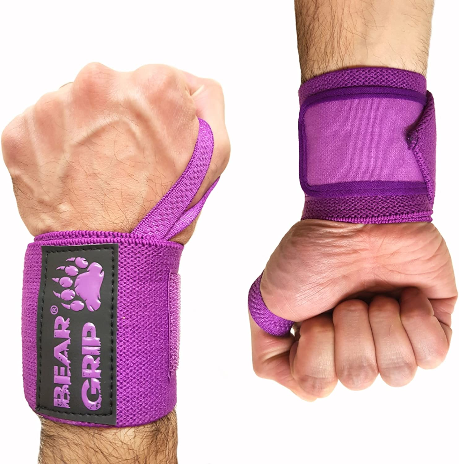 Sold in pairs BEAR GRIP Premium weight lifting wrist support wraps,