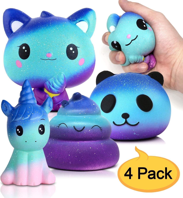 Amteker 4 Pack Galaxy Kawaii Squishy , Grandes Animales Squishy ...