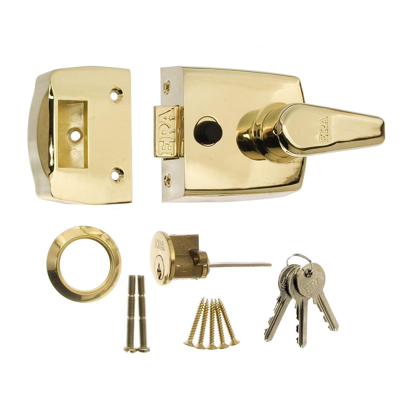 ERA 60mm High Security Replacment Nightlatch - Brass Effect Body 1630-31