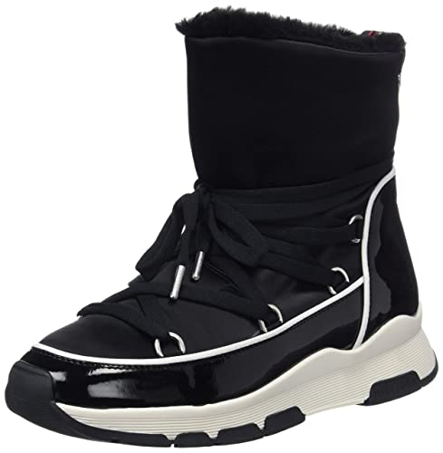 8e1b77127acdb Tommy Hilfiger Women s Cool Technical Satin Winter Boot Snow (Black 990)