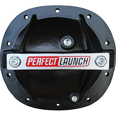 Proform 66667 Black Aluminum Differential Cover with Perfect Launch Logo and Bearing Cap Stabilizer Bolts for GM: Automotive