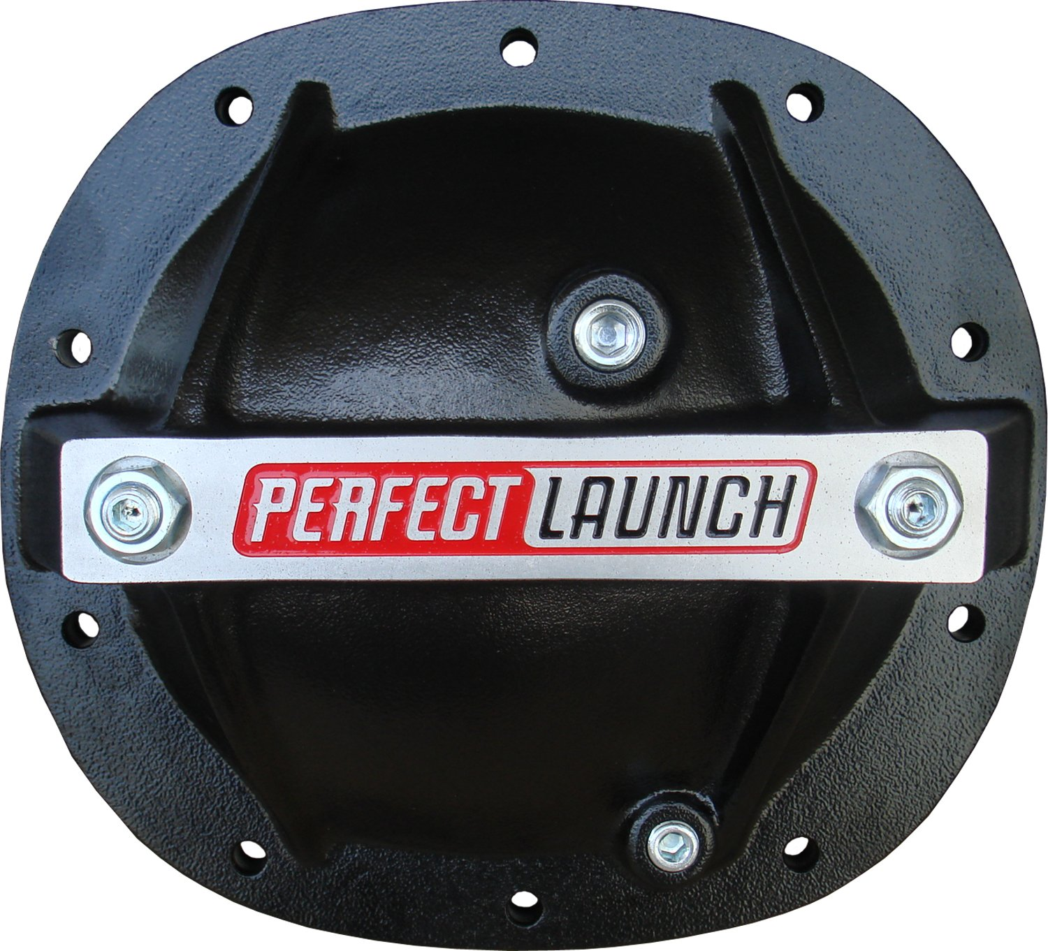 Proform 66667 Black Aluminum Differential Cover with Perfect Launch Logo and Bearing Cap Stabilizer Bolts for GM