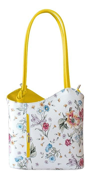 8e351d5b3432d Rucksack Handtaschen 2 in 1 Damentaschen Ledertasche Lederrucksack Designer  Luxus Henkeltasche mit Blumenmuster Tasche aus Echt