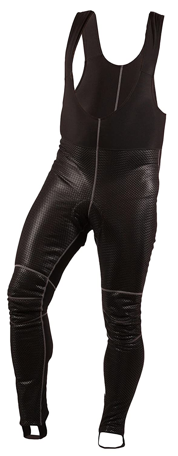 Mens LUXURY thermal warm cycling windproof long bib tights bike padded pants