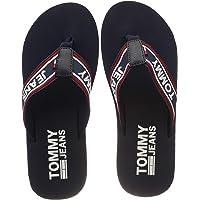 TOMMY HILFIGER Erkek Stripe Tommy Jeans Beach Sandal Moda Ayakkabı