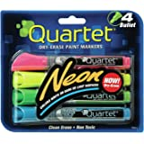 Quartet Dry Erase Markers, Bullet Tip, Glo-write, Neon, Assorted Colors, 4-PACK (79551)