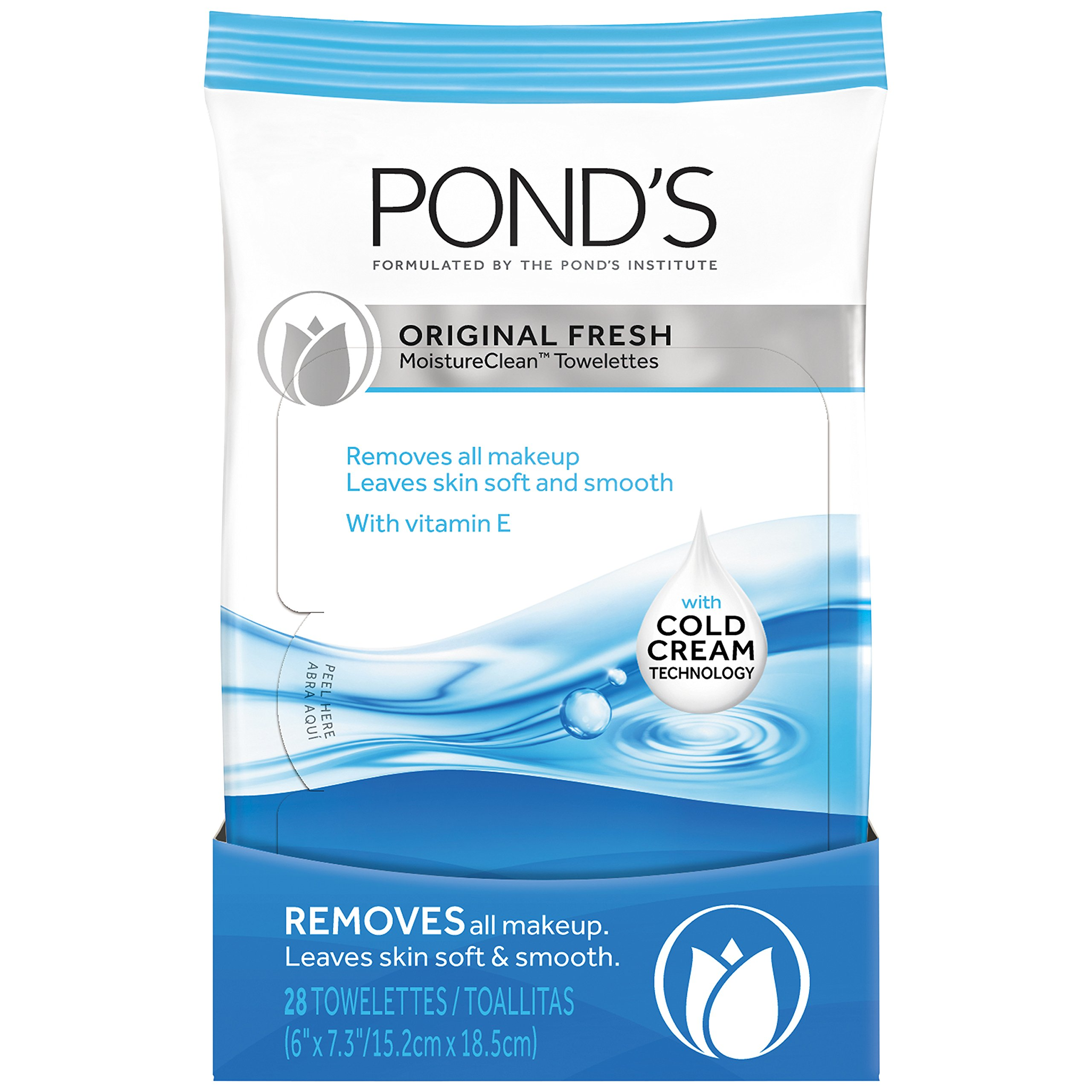 Ponds Moisture Clean Towelettes Original Fresh, 28 ct (Pack of ...