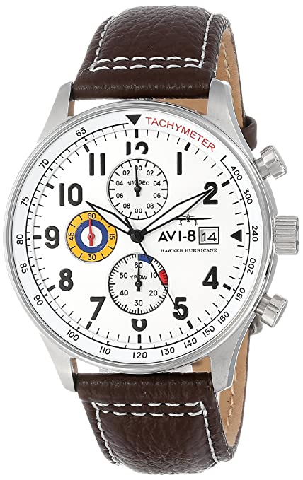 Avi 8 Men's Av 4011 Hawker Hurricane Analog Display Japanese Quartz Watch With Leather Band by Avi 8