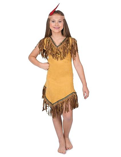 Disfraz india del nuevo mundo niña: Amazon.es: Juguetes y juegos