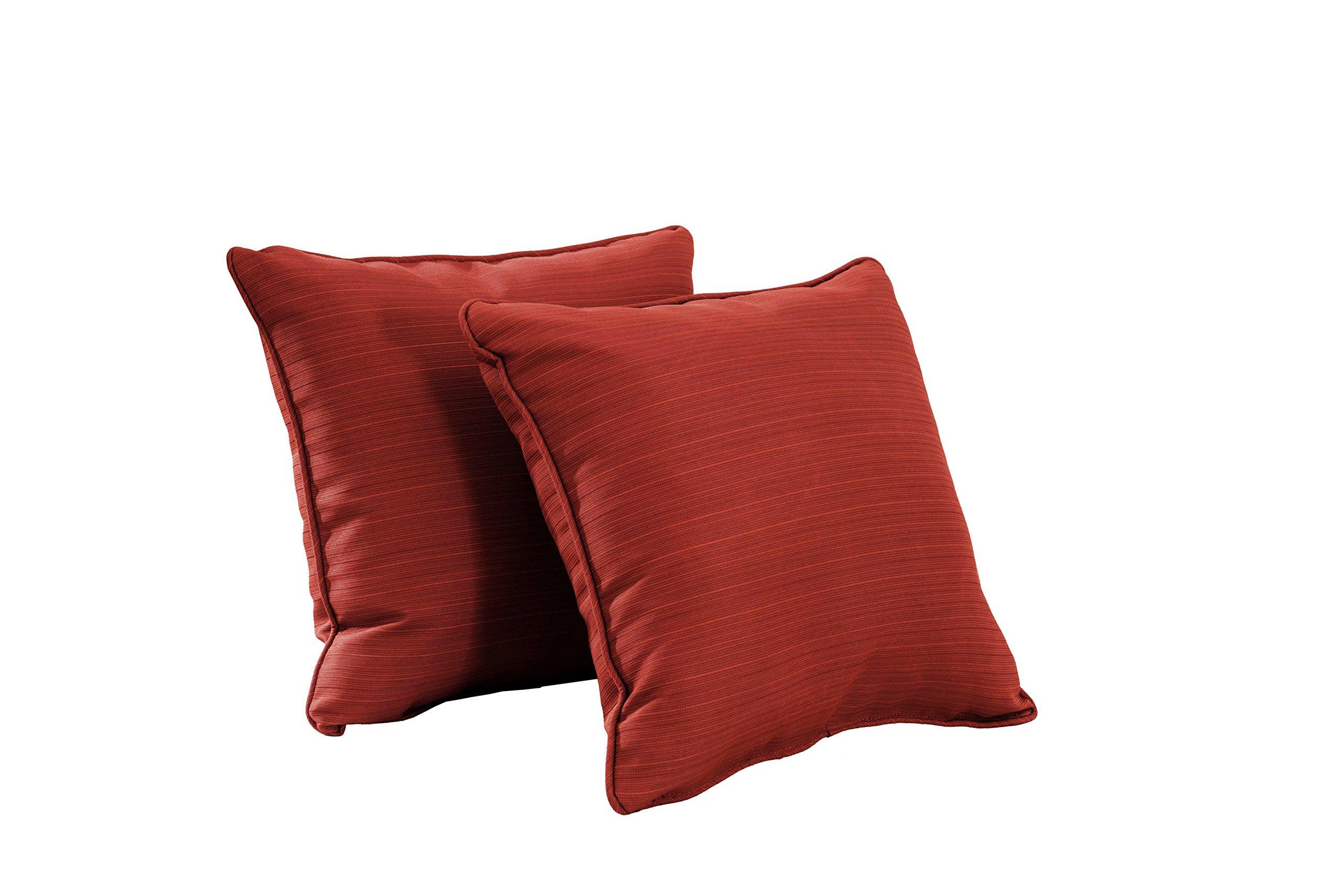 Sunjoy S-PL065PFB-O Outdoor Pillow, Paprika