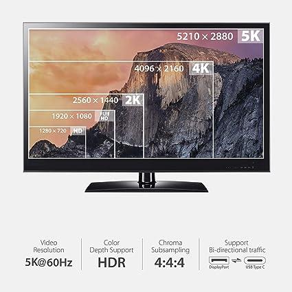 Moshi 99MO084102 Adaptador de Cable de vídeo 1,5 m USB C DisplayPort Blanco - Adaptadores de Cable de vídeo (1,5 m, USB C, DisplayPort, Macho, Macho, Derecho): Amazon.es: Informática