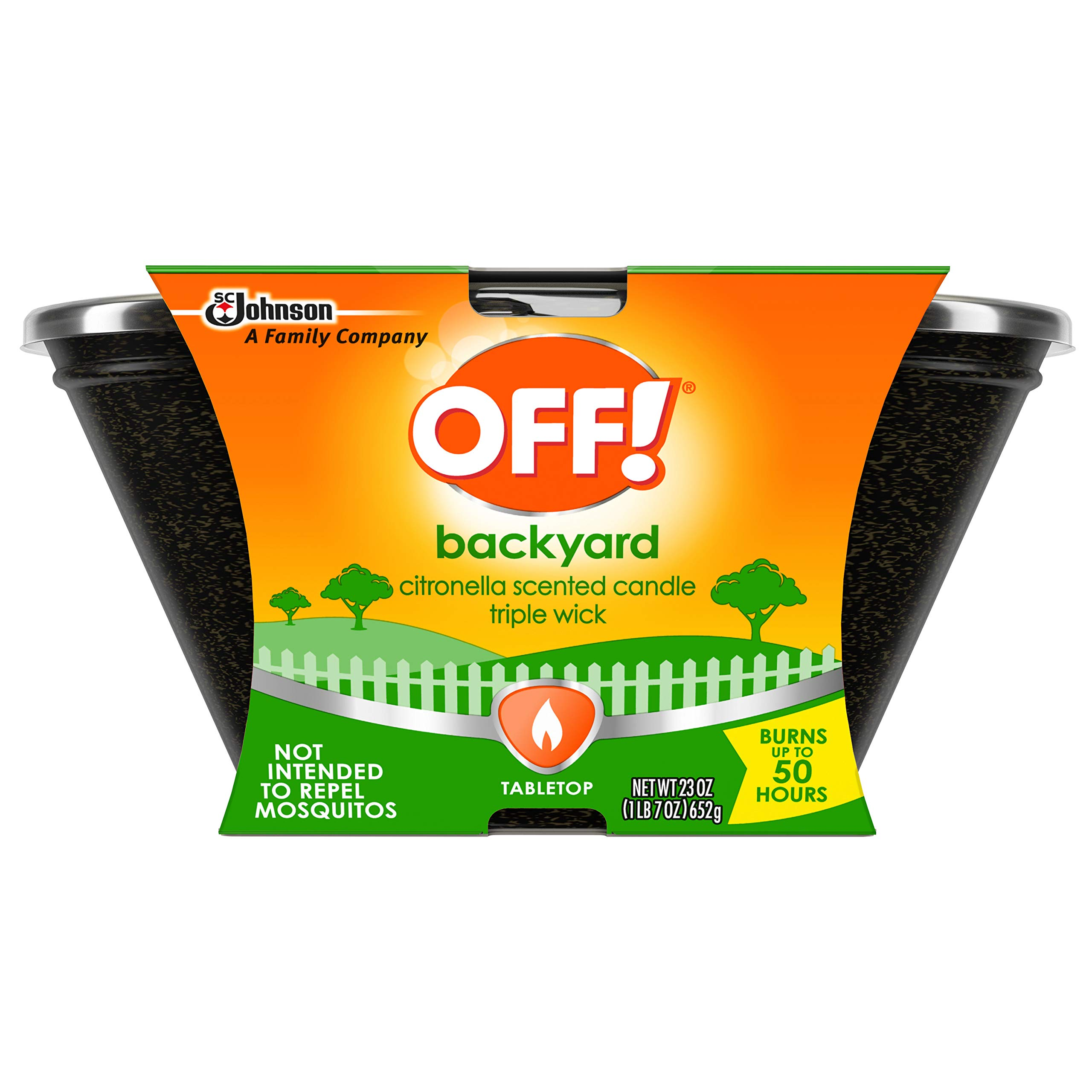 OFF! Triple Wick Citronella Candle 23 oz (Pack of 6)