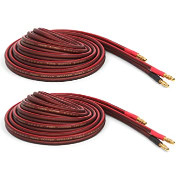 Amazon.com: Micca Pure Copper Speaker Wire with Gold Plated Banana ...