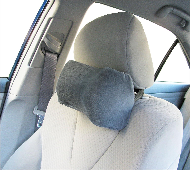 Amazon com car neck pillow soft version neck pillow car pillow memory foam neck pillow neck rest pillow car neck pillow color grey home